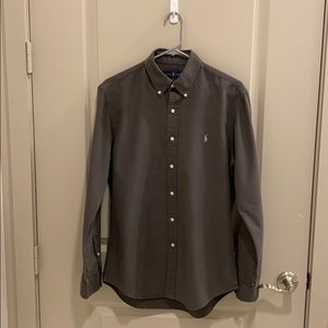 Ralph Lauren Button Down (Size: M, Charcoal)